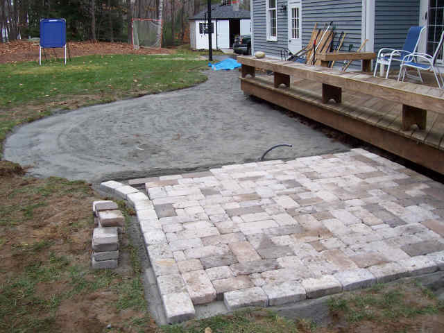 ... Refurbished Existing Deck, Relocated Existing Arrigation System And  Installed New Paver Brick Patio To Hold ...